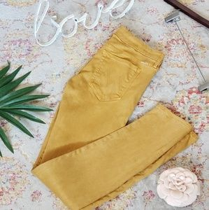 MOTHER mustard jeans